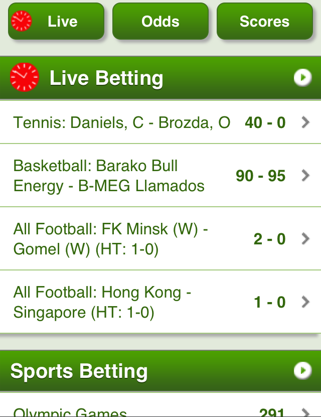 mobile betting apps android
