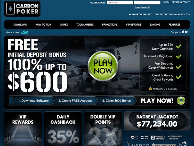 Carbon Poker screenshot